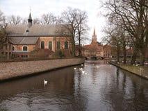 Edificios (Brujas, Bélgica) Foto de archivo libre de regalías