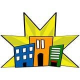 Edificios céntricos ilustración del vector