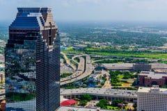Edificios céntricos de Houston Imágenes de archivo libres de regalías