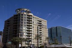 Edificios céntricos de la oficina y de la propiedad horizontal fotos de archivo