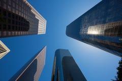 Edificios céntricos de los rascacielos de Los Ángeles del LA Fotografía de archivo libre de regalías
