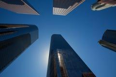Edificios céntricos de los rascacielos de Los Ángeles del LA Fotografía de archivo