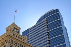 Edificios céntricos de Portland foto de archivo