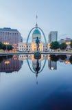 Edificios céntricos del horizonte de St. Louis en la noche Fotografía de archivo