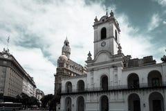 Edificios cerca de Plaza de Mayo imagen de archivo libre de regalías