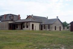 Edificios coloniales del estilo de Laramie del fuerte Imagen de archivo