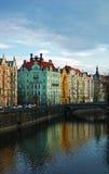 Edificios coloridos de Praga Fotografía de archivo libre de regalías