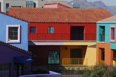 Edificios coloridos de Tucson Imagen de archivo libre de regalías