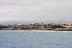 Edificios coloridos en la costa de Puerto Rico Foto de archivo libre de regalías