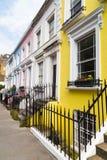 Edificios coloridos en Notting Hill Londres Fotografía de archivo libre de regalías