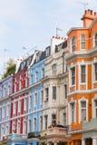 Edificios coloridos en Notting Hill Londres Fotografía de archivo
