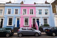 Edificios coloridos en Notting Hill Londres Foto de archivo libre de regalías