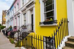 Edificios coloridos en Notting Hill Londres Fotos de archivo