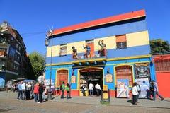 Edificios coloridos, La Boca en Buenos Aires Foto de archivo libre de regalías