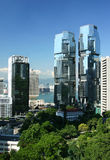 Edificios comerciales contemporáneos en Hong-Kong Imagen de archivo libre de regalías
