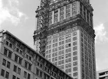 Edificios comerciales en Detroit, Michigan foto de archivo