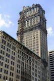 Edificios comerciales en Detroit, Michigan fotografía de archivo libre de regalías