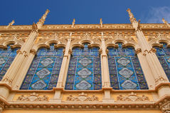 Edificios con los frentes del cordón de la ciudad Valencia España Imagen de archivo