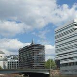 Edificios contemporáneos en el HafenCity Hamburgo - Alemania - Europa Fotos de archivo