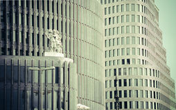 Edificios corporativos Berlín Imagen de archivo