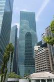 Edificios corporativos y financieros céntricos imagen de archivo