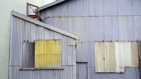 Edificios de acero acanalados viejos Fotografía de archivo