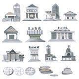 Edificios de banco Imagen de archivo libre de regalías