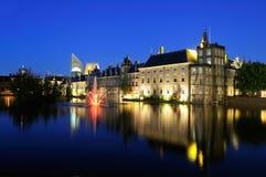 Edificios de Binnenhof en La Haya fotos de archivo