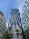 Edificios de Canary Wharf Foto de archivo