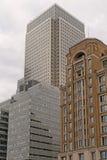 Edificios de Canary Wharf Foto de archivo libre de regalías