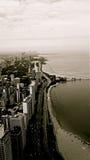 Edificios de Chicago blancos y negros Foto de archivo libre de regalías