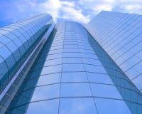 Edificios de cristal a gran altitud stock de ilustración