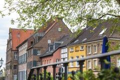edificios de duesseldorf Alemania del kaiserswerth fotografía de archivo libre de regalías