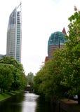 Edificios de Haag de la guarida Imágenes de archivo libres de regalías
