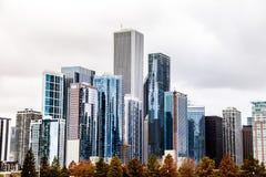 Edificios de Highrise de Chicago foto de archivo libre de regalías
