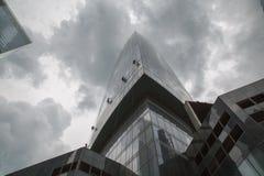 Edificios de highrise de Rusia del distrito financiero de la ciudad de Moscú fotos de archivo libres de regalías