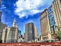 Edificios de la ciudad de Chicago Imagen de archivo libre de regalías