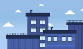 Edificios de la ciudad del ejemplo plano del vector Imágenes de archivo libres de regalías