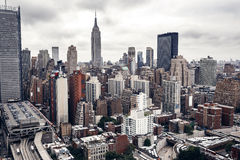 Edificios de la ciudad en Nueva York Imagen de archivo libre de regalías