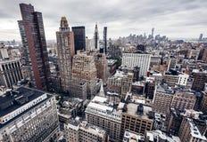 Edificios de la ciudad en Nueva York Imagenes de archivo
