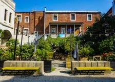 Edificios de la ciudad de Kutaisi en Art Street foto de archivo