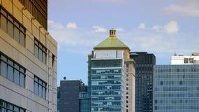 Edificios de la ciudad, Montreal Fotografía de archivo