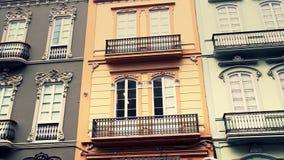 Edificios de la ciudad vieja en Las Palmas Gran Canaria almacen de video