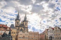 Edificios de la ciudad vieja de la ciudad de Praga Foto de archivo