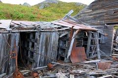 Edificios de la explotación minera en el paso de Hatcher imagen de archivo libre de regalías