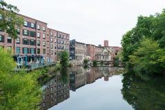 Edificios de la fábrica de algodón Fotografía de archivo libre de regalías