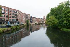 Edificios de la fábrica de algodón Imagenes de archivo