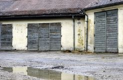 Edificios de la fábrica cerrada Fotos de archivo