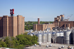 Edificios de la fábrica de Miller imagenes de archivo