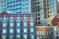 Edificios de la fachada Fotos de archivo
